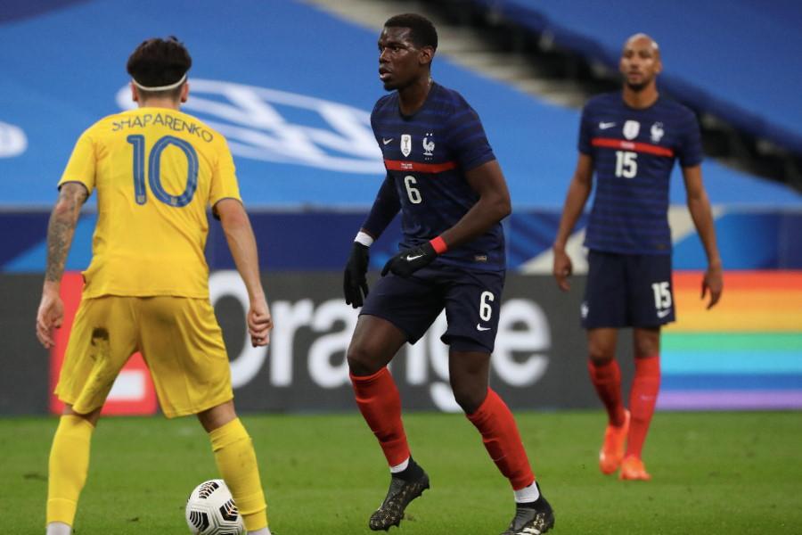 フランス代表MFポール・ポグバ(中央)【写真:Getty Images】