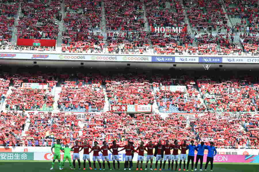 浦和はサポーターや川崎の選手に激励を受けてACLへと向かった【写真:木鋪虎雄】