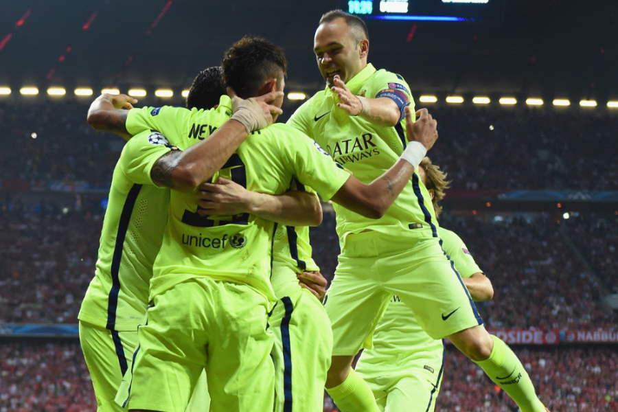 2014-15シーズン、欧州制覇したバルセロナ【写真:Getty Images】