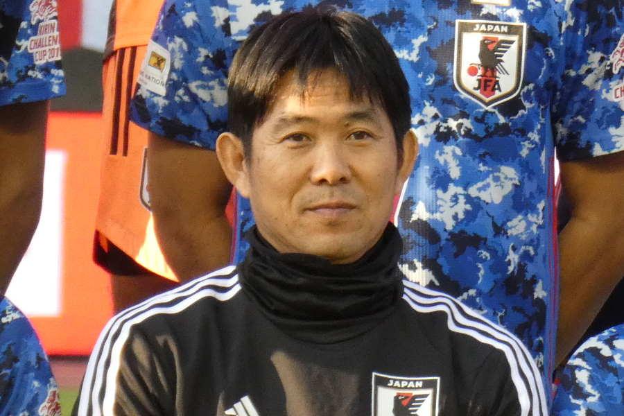 森保一監督が会見に出席【写真:Football ZONE web】