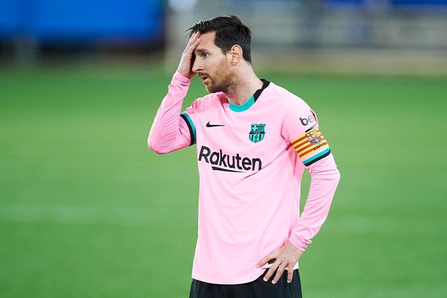 FCバルセロナでプレーするFWリオネル・メッシ【写真:Getty Images】