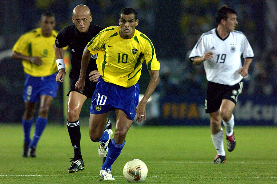2002年の日韓ワールドカップで背番号10を背負った元ブラジル代表FWリバウド氏【写真:Getty Images】