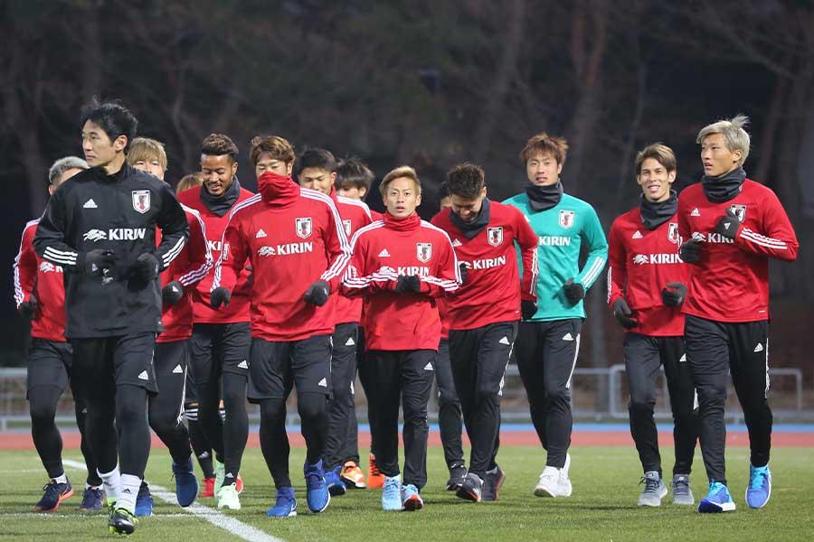 E-1選手権に臨む日本代表のメンバー【写真:Football ZONE web】