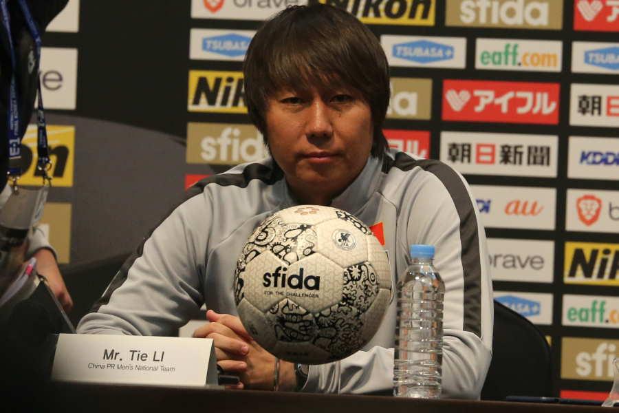 中国代表のリー・ティエ監督【写真:Football ZONE web】