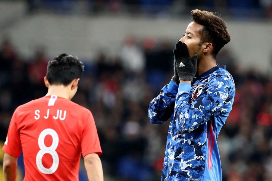 日本代表は前半を0-1で折り返した【写真:Getty Images】