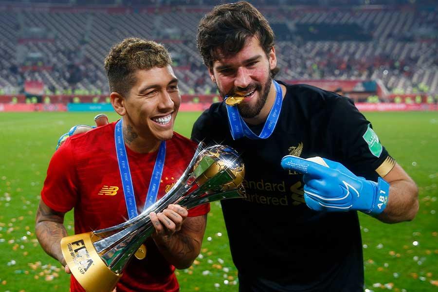 GKアリソンがブラジル代表でもともにプレーするFWフィルミーノを称賛【写真:Getty Images】