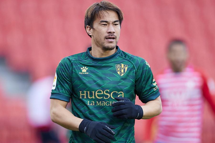 ベストゴールに選ばれたウエスカの日本代表FW岡崎慎司【写真:Getty Images】