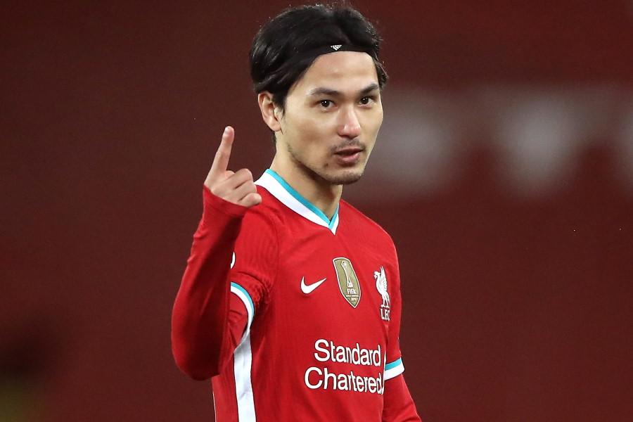 献身性を称えられたリバプールの日本代表MF南野拓実【写真:Getty Images】