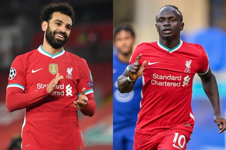 リバプールのエジプト代表FWモハメド・サラーとセネガル代表FWサディオ・マネ【写真:AP】