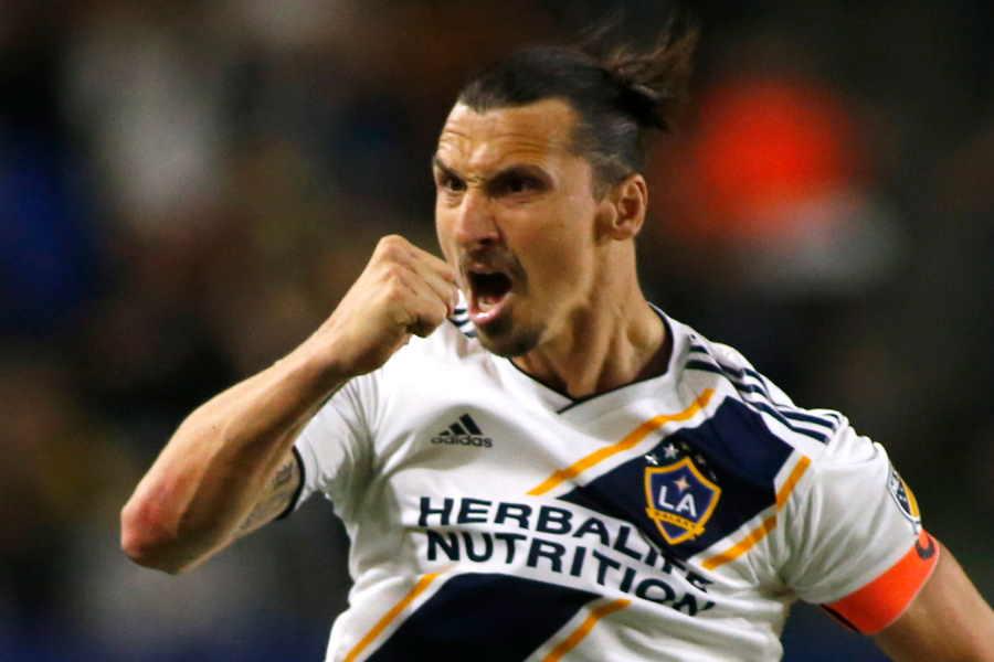 LA時代もゴールを量産したイブラヒモビッチ【写真:Getty Images】