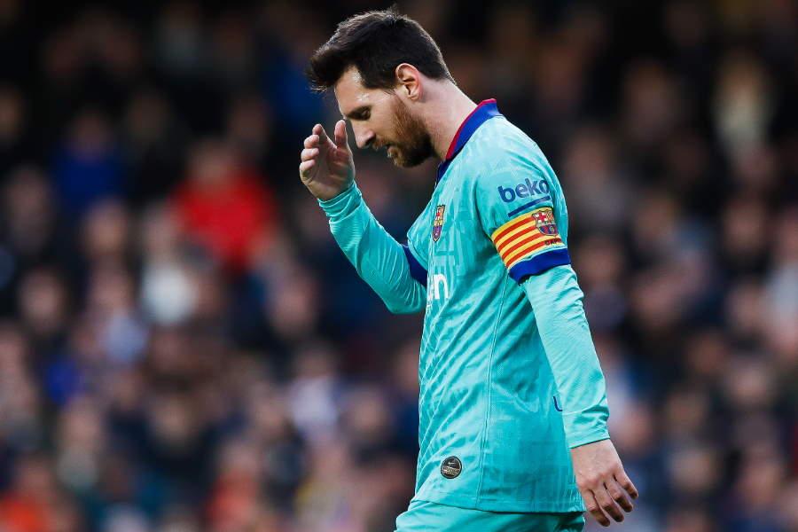 メッシはバレンシア戦で得点を奪うことができなかった【写真:Getty Images】