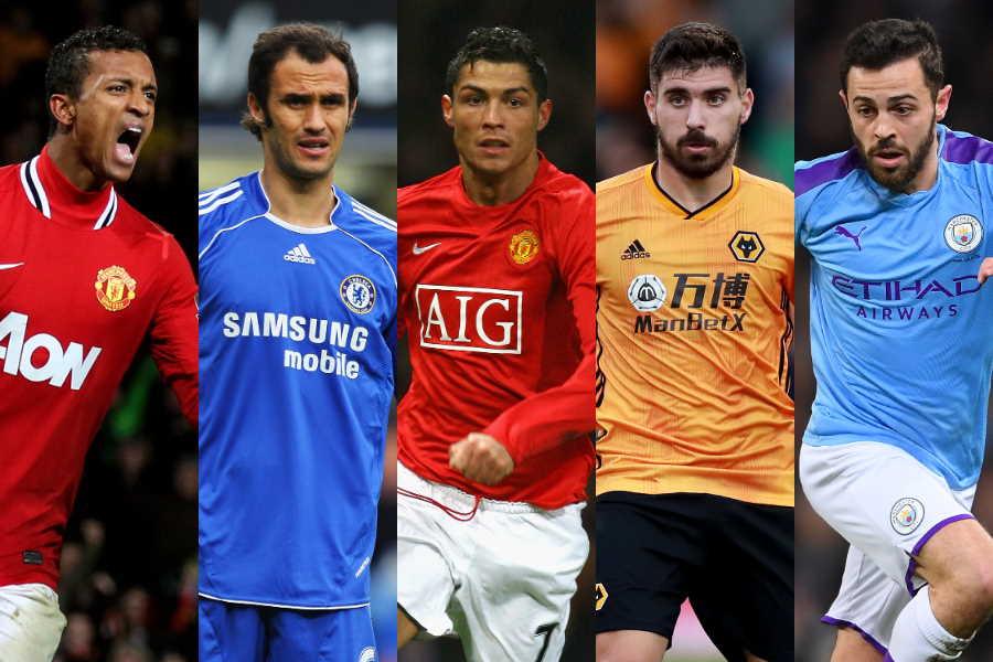 「ポルトガル人選手トップ10」に選ばれた選手たち【写真:Getty Images】