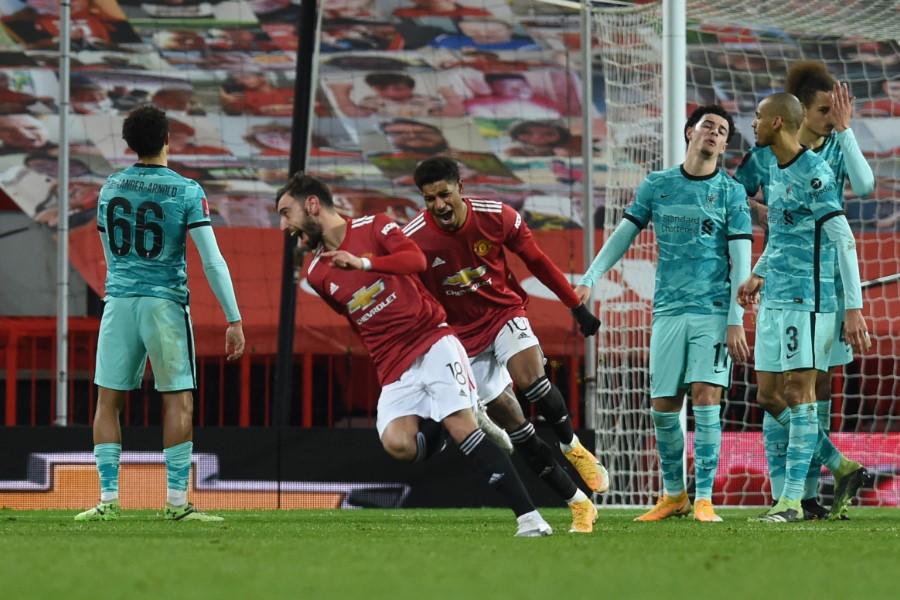 ユナイテッドはFAカップ4回戦でプレミア王者リバプールを撃破【写真:Getty Images】