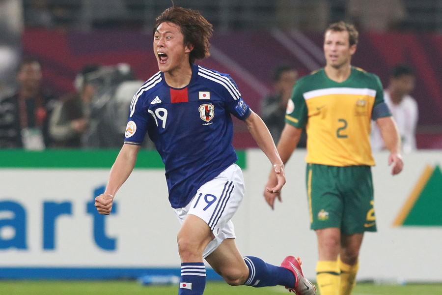 2011年アジア杯決勝で決勝弾を決めた元日本代表FW李忠成【写真:Getty Images】