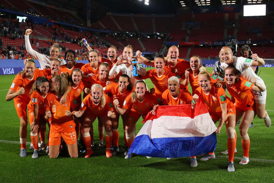 UEFAが「ディズニー」とコラボ(※写真はW杯時のオランダ女子代表)【写真:Getty Images】