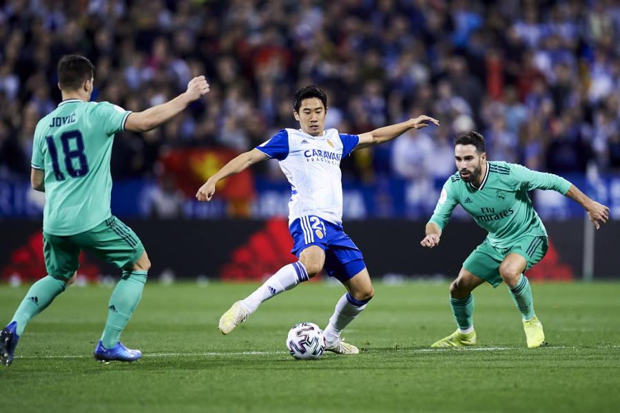 国王杯でレアルと対戦したサラゴサMF香川真司【写真:Getty Images】