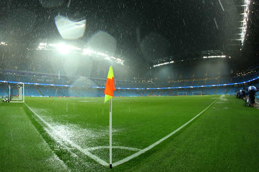 悪天候のエティハド・スタジアム(※写真は2016年のもの)【写真:Getty Images】