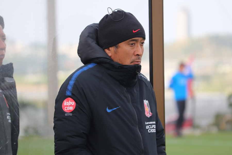 浦和の大槻監督は新システム採用の陣容に手応え【写真: 轡田哲朗】