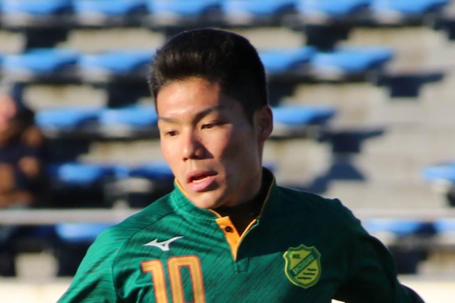 鹿島のルーキーMF松村(※写真は高校選手権時代のものです)【写真:Football ZONE web】