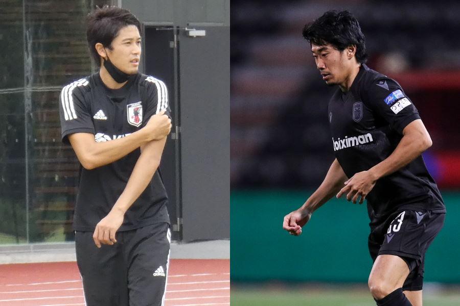 内田篤人氏(左)が香川真司の巧みなターンを称賛【写真:Football ZONE web & GettyImages】
