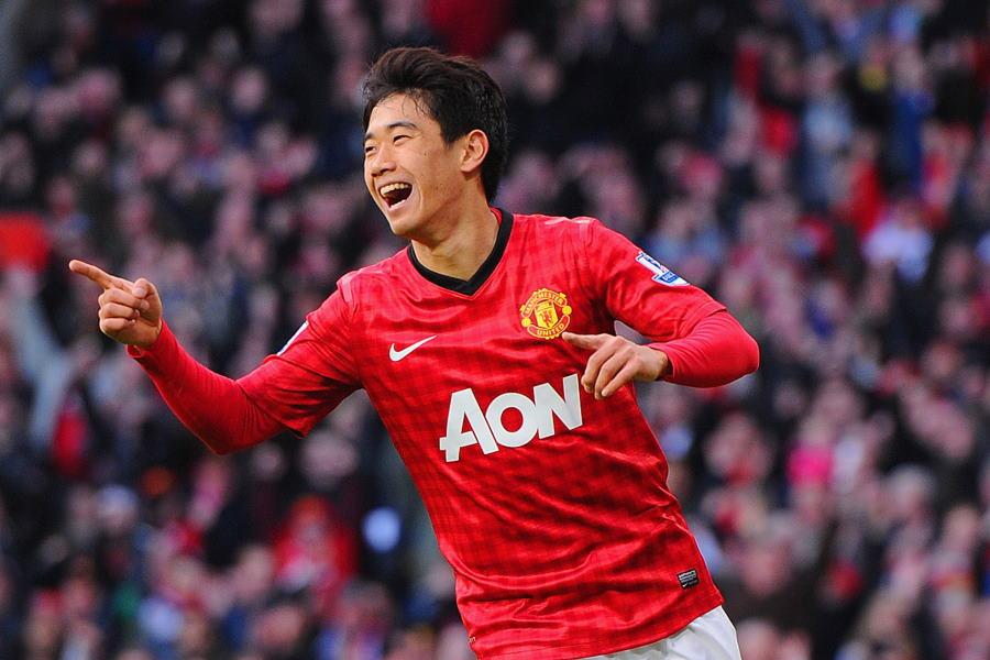 2012-13シーズンにハットトリックを達成したマンU時代の香川真司【写真:Getty Images】