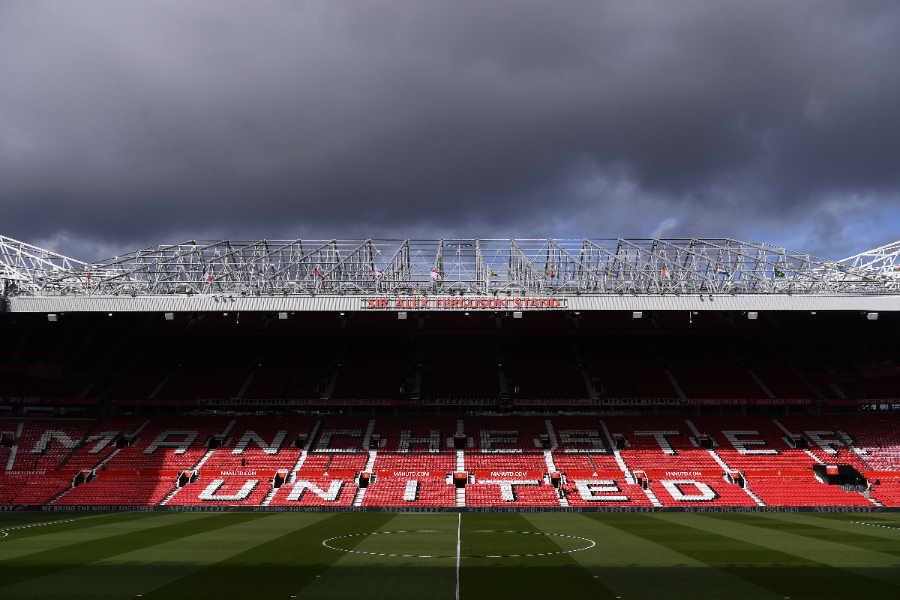 英国でも無観客試合開催の可能性が浮上(写真はマンUの本拠地「オールド・トラッフォード」)【写真:Getty Images】