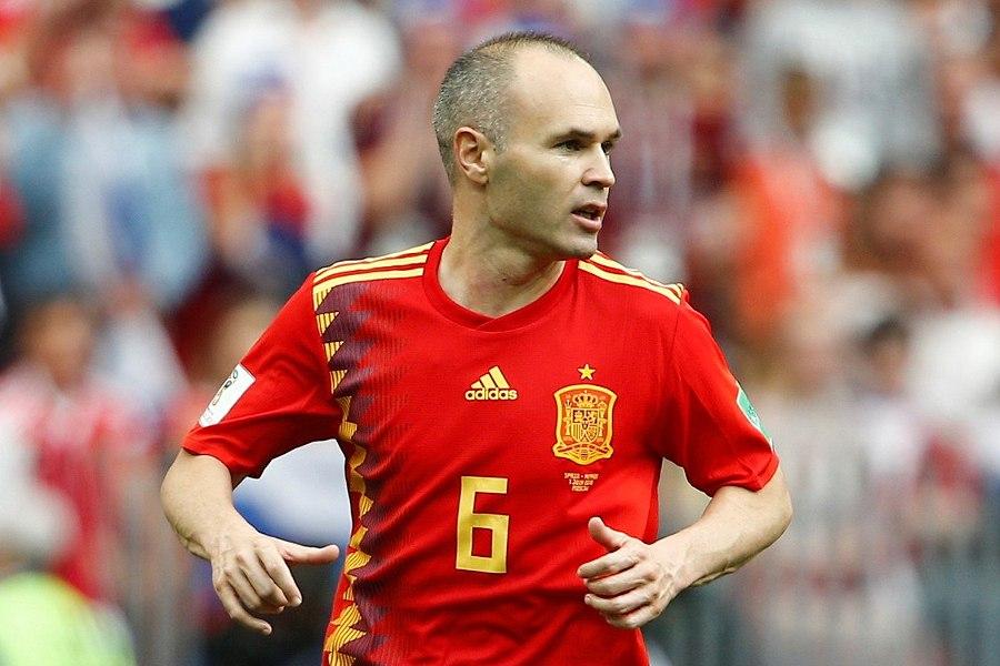 スペイン代表時代のイニエスタ【写真:Getty Images】