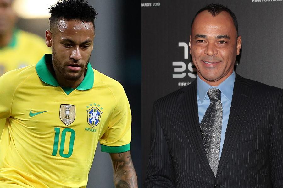 ブラジル代表FWネイマール(左)と元ブラジル代表カフー氏【写真:Getty Images】