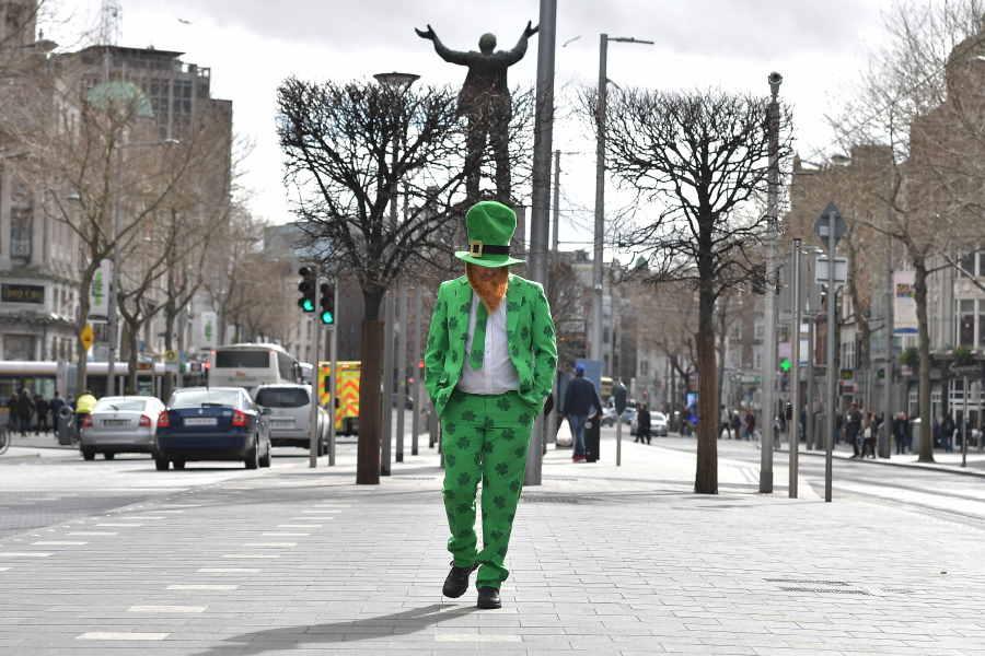 アイルランド最大の祝日「セントパトリックデー」のパレードも中止【写真:Getty Images】