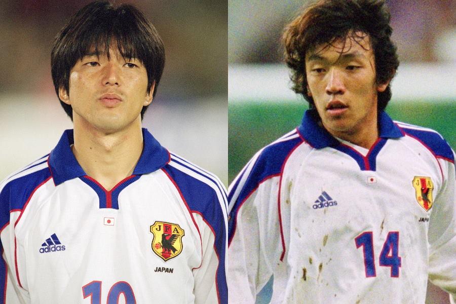日本代表で共闘したMF名波浩(左)とMF中村俊輔【写真:Getty Images】