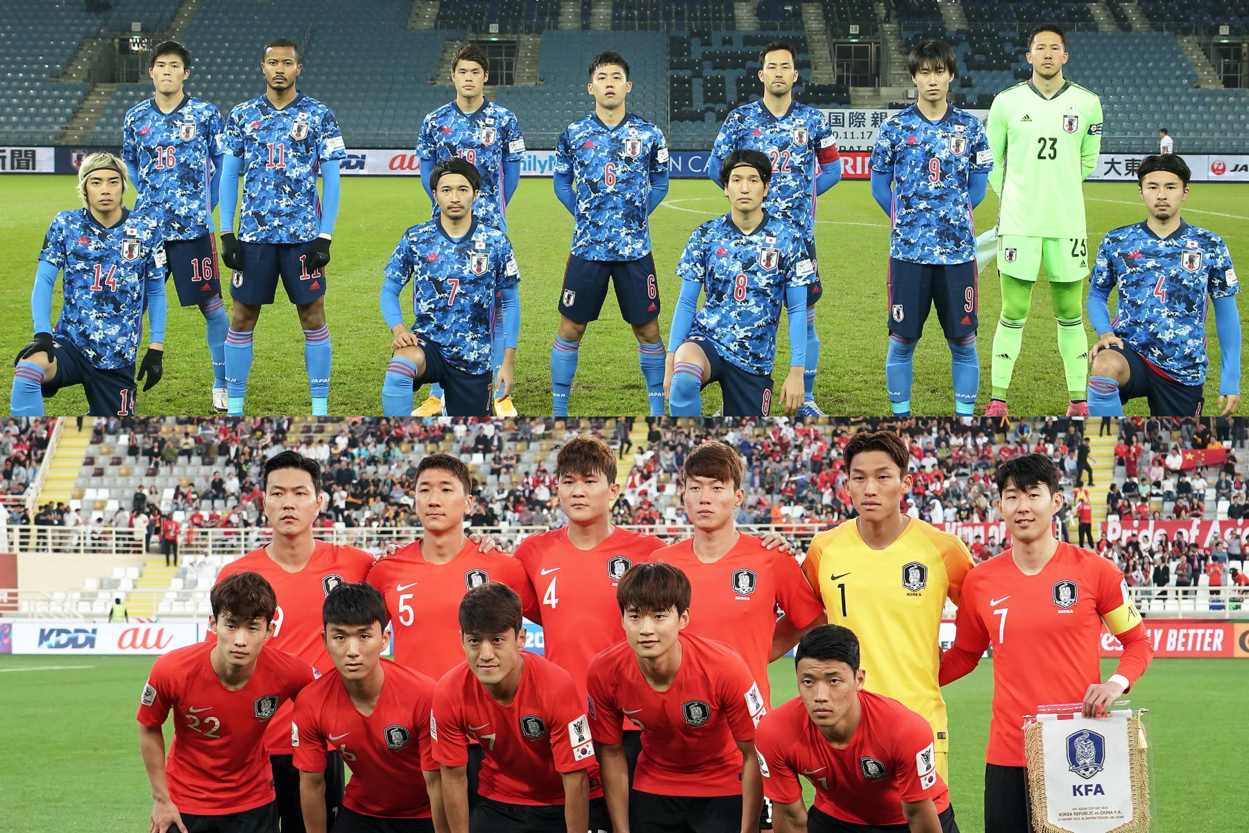 3/25に日本代表と韓国代表の国際親善試合の開催が決定【写真:ⒸJFA & Getty Images】