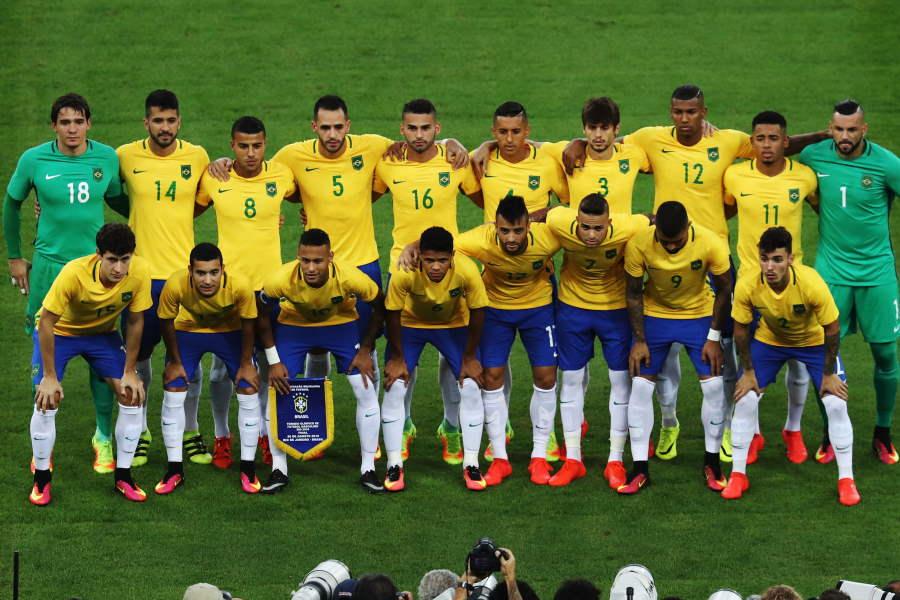 初の金メダルを獲得したブラジル代表【写真:Getty Images】