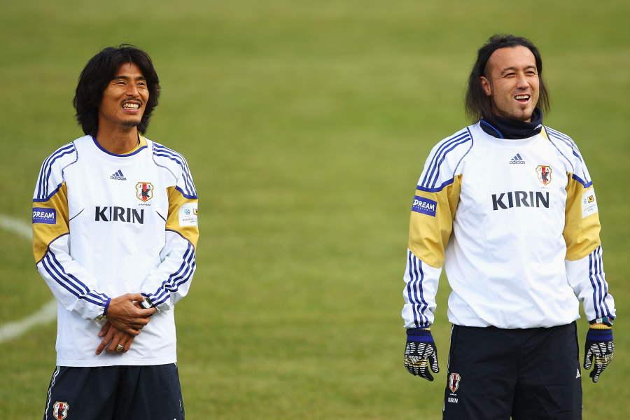 日本代表時代の中澤佑二氏と闘莉王氏【写真:Getty Images】