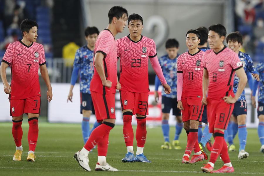 日本戦で0-3と完敗を喫した韓国代表【写真:AP】