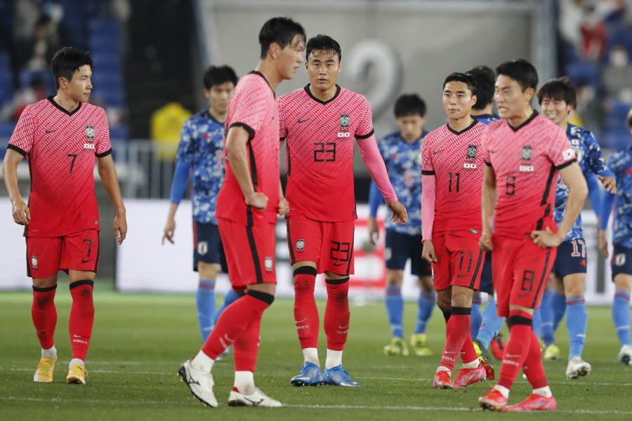 韓国代表は0-3で日本代表に完敗【写真:AP】