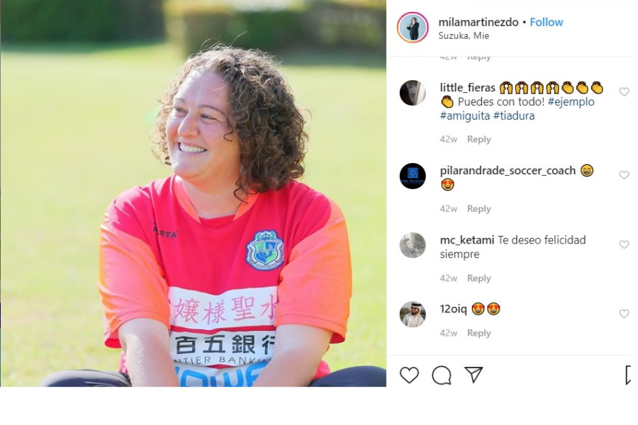 JFL初の外国人女性監督、ミラグロス・マルティネス監督【※画像:本人公式Instagramのスクリーンショットです】