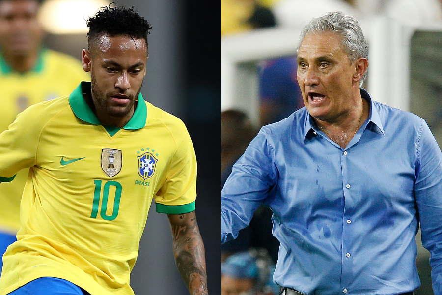 ブラジル代表FWネイマール(左)を評価したチッチ監督【写真:Getty Images】