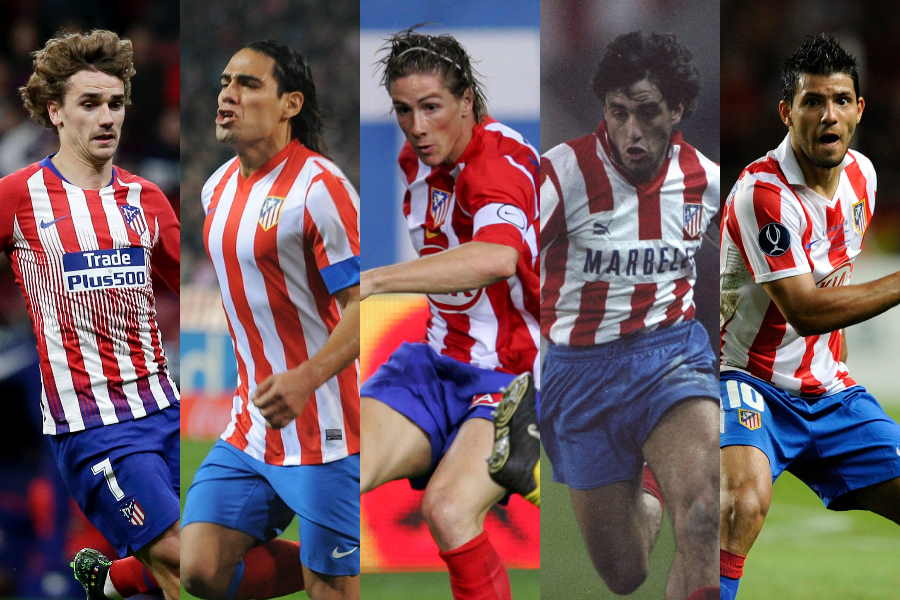 (左から)グリーズマン、ファルカオ、トーレス、フットレ、アグエロ【写真:Getty Images】