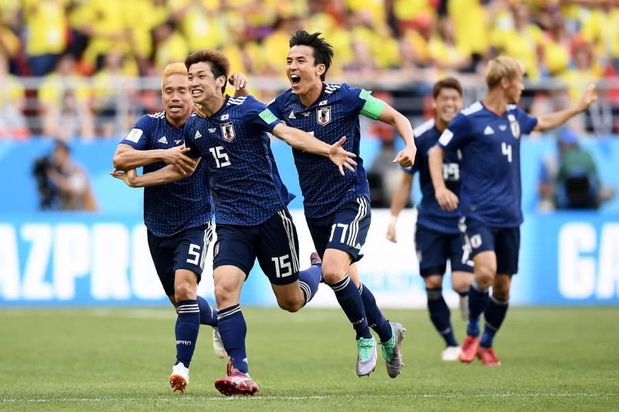 ロシアW杯でコロンビアを撃破した日本代表に海外メディアが再脚光【写真:Getty Images】
