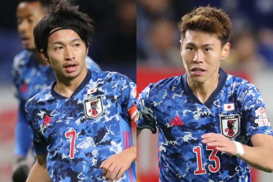 共に日本代表で活躍する柴崎岳(左)と橋本拳人【写真:高橋学】