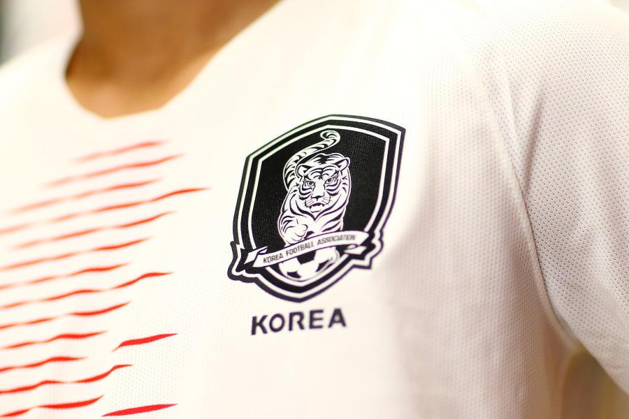変更前の韓国代表のエンブレム【写真:Getty Images】