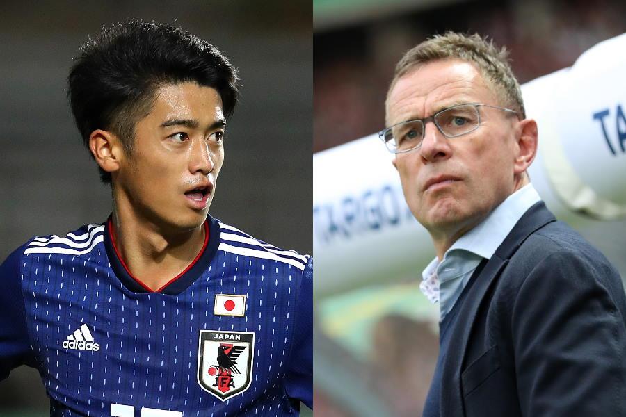 ラングニック氏(右)がC大阪18歳の西川潤を高く評価【写真:Getty Images】