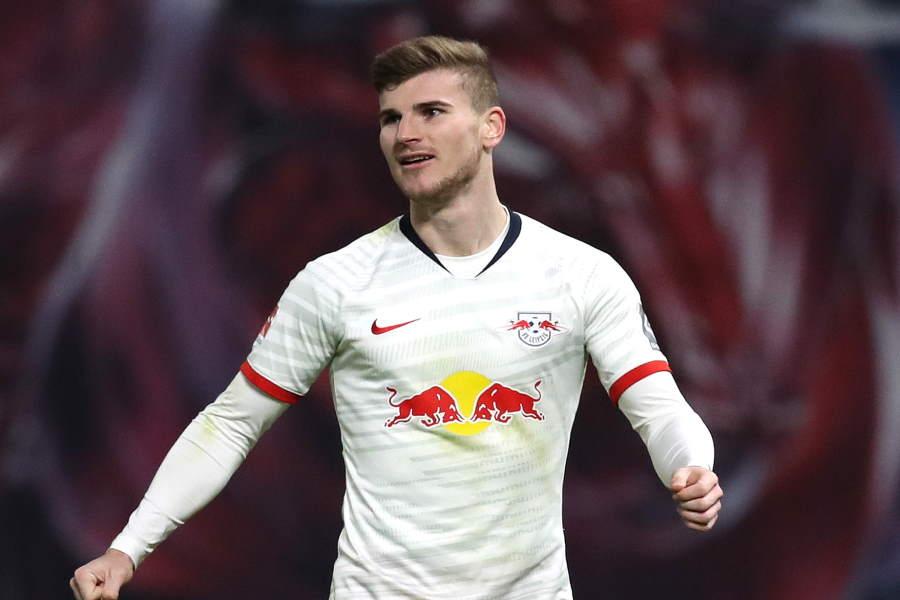 RBライプツィヒでプレーするドイツ代表FWティモ・ヴェルナー【写真:Getty Images】