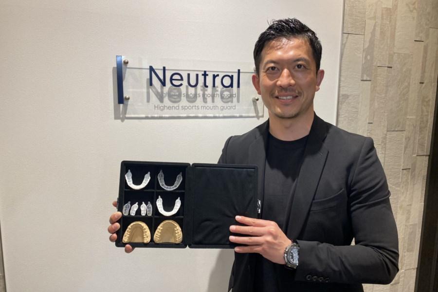 アスリート用のマウスガード「Neutral」の普及に取り組む太田吉彰氏【写真:本人提供】