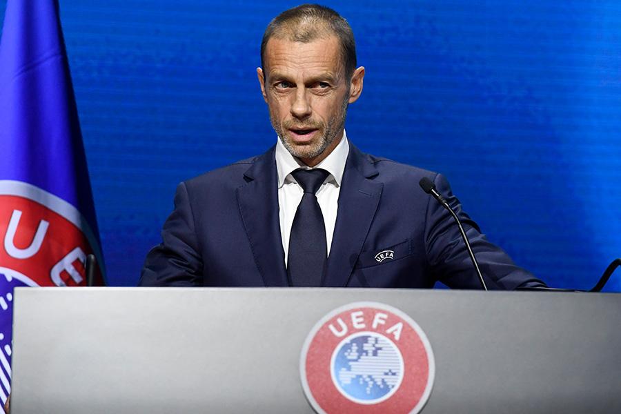 UEFA(欧州サッカー連盟)のアレクサンダル・チェフェリン会長【写真:AP】