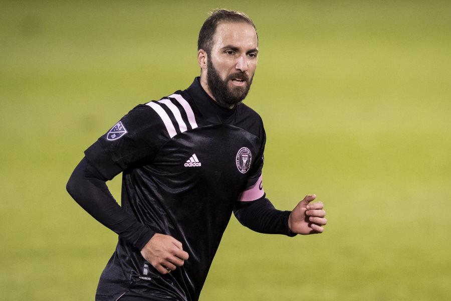 MLSのインテル・マイアミでプレーするFWイグアイン【写真:Getty Images】