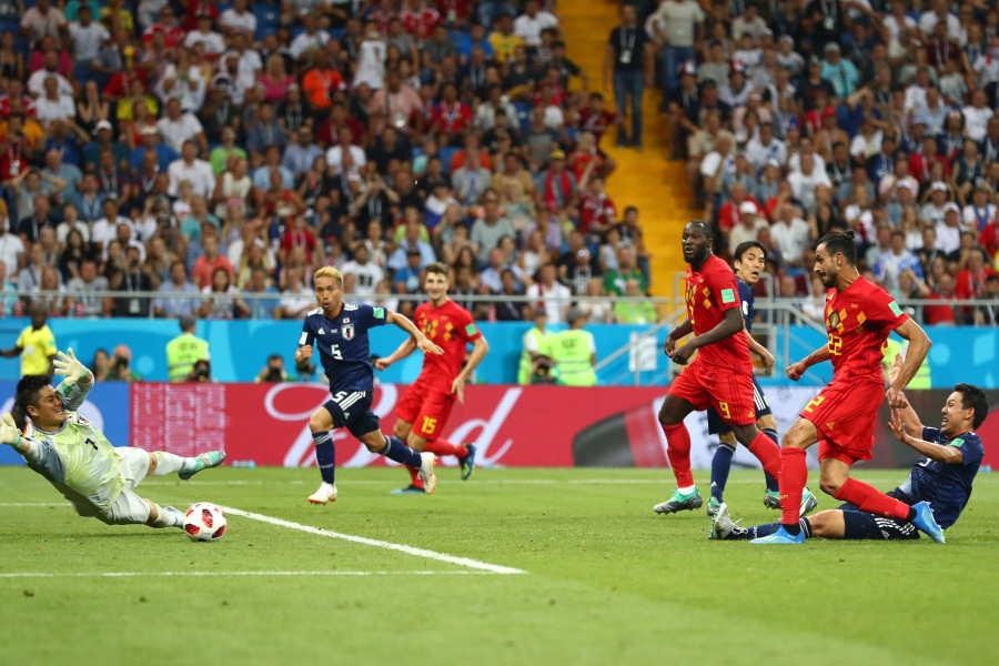 ロシアW杯の日本×ベルギー戦で生まれた「ドラマチック」弾の瞬間【写真:Getty Images】
