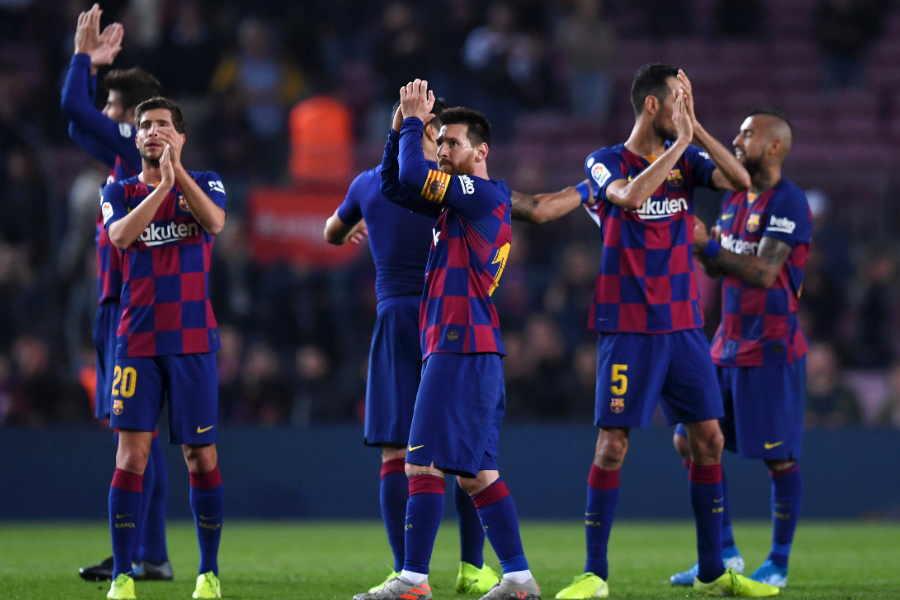 練習再開を目指すバルセロナが選手、スタッフのメディカルチェックを実施【写真:Getty Images】