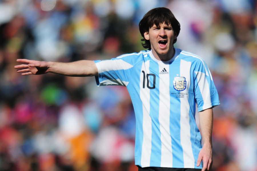 2010年南アフリカW杯当時のリオネル・メッシ【写真:Getty Images】