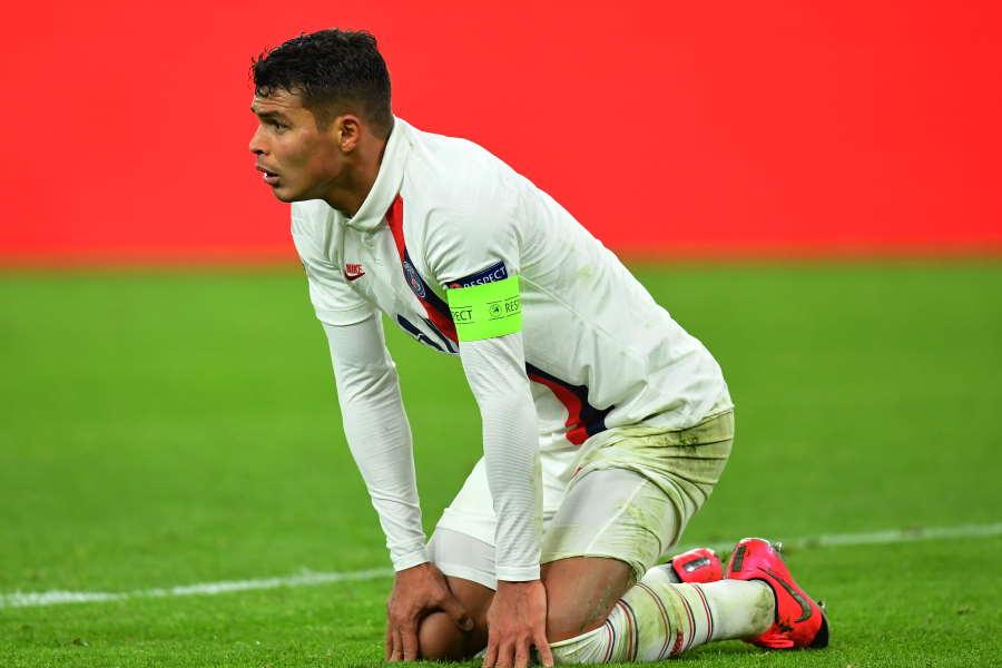 PSGでの契約が今季で切れるチアゴ・シウバ【写真:Getty Images】